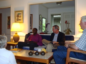 Bishop Mhogolo with Al Carter and Steve Bouser